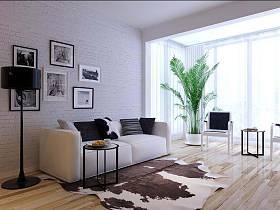 现代简约北欧客厅装修效果展示