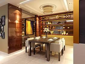 现代简约美式餐厅装修图