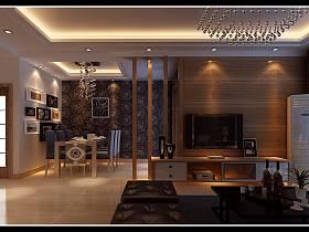 现代简约客厅餐厅装修案例