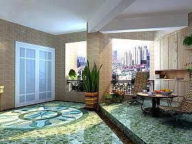 现代简约阳台设计案例