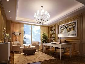 现代简约简欧书房设计案例