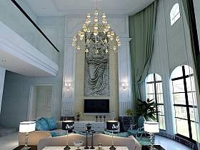 欧式客厅灯具装修案例