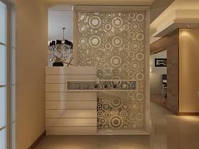 现代简约玄关隔断玄关柜设计案例展示