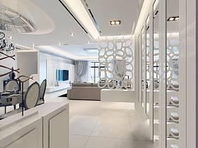 现代简约简欧客厅隔断设计案例