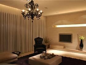 现代简约客厅背景墙沙发电视背景墙设计图