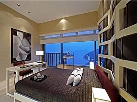 现代简约卧室背景墙图片