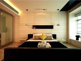 现代简约卧室隔断装修效果展示