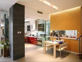 现代简约创意餐厅厨房装修效果展示