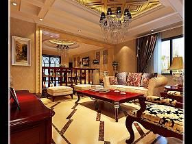 欧式美式客厅装修图