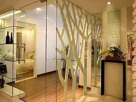 现代简约玄关隔断玄关柜设计方案