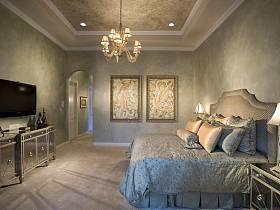 新古典后现代卧室效果图