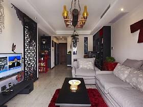 中式明清客厅效果图