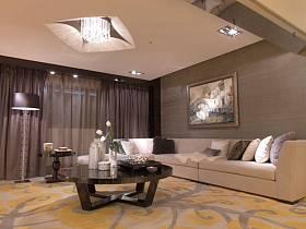 简欧后现代客厅设计方案