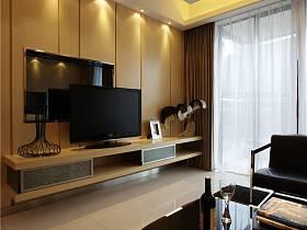 现代简约客厅收纳装修效果展示