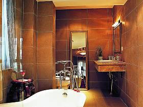 现代简约中式浴室淋浴房图片