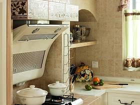 田园美式厨房侧吸式油烟机设计案例展示