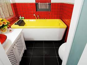 田园美式浴室淋浴房效果图