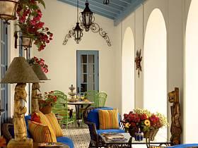 阳台桌子椅子台灯椅设计案例