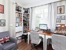 英伦书房沙发单人沙发设计图