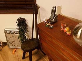 清新自然复古现代桌子椅子椅装修图
