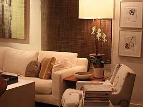 客厅沙发台灯单人沙发案例展示
