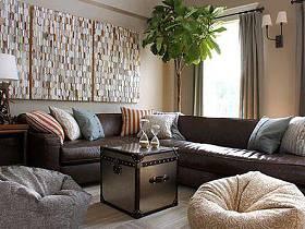 精致复古时尚客厅沙发茶几装修案例