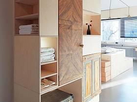 玄关酒店玄关柜柜子卫浴毛巾设计案例展示