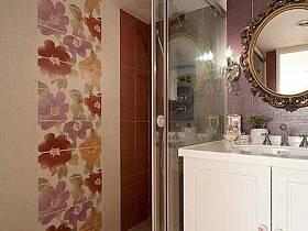 法式卫生间妆镜梳妆镜装修效果展示