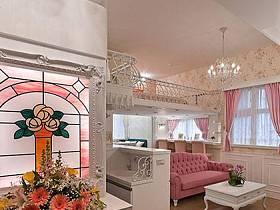 客厅玄关沙发布艺沙发玄关柜装修图