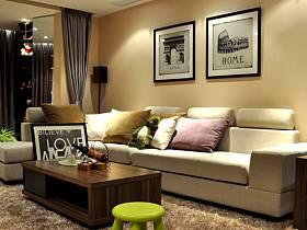 现代简约现代简约温馨客厅设计图