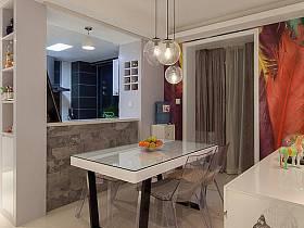 现代时尚现代时尚风格客厅餐厅餐桌餐桌布设计图