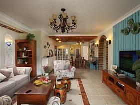 田园田园风格客厅沙发设计案例展示