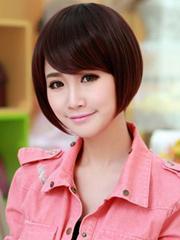 甜甜美美 圆脸女生短发发型图片[5P]