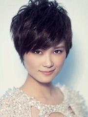 长脸方脸非主流女生短发发型图片