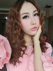 韩式显瘦蛋卷头多彩染发发型图片[8P]