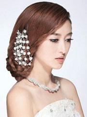 巧手打造唯美新娘发型,新娘盘发教程图解[9款]
