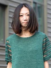 2014最新中分齐肩发型图片[10]