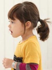 花苞頭VS小馬尾 女寶寶可愛發型綁扎方法[5P]