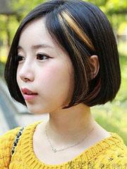 女學生韓版中分短發設計圖片[6P]