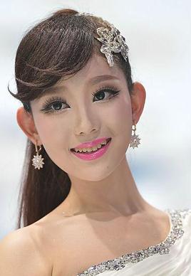 """2014年北京车展模特发型之""""最""""[10P]"""