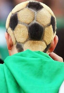 世界杯球迷发型图片连连看[9P]