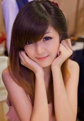 斜刘海清纯美女发型设计图片[6P]