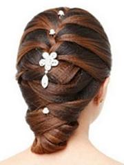 唯美新娘盘发发型图解