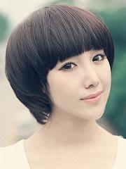 甜美女生锅盖头发型图片[5P]