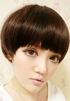 帅气女生蘑菇头发型图片[5P]