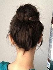 韓式麻花丸子頭扎法圖解[10P]