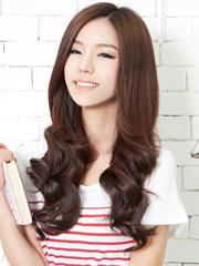 宽脸女生适合的发型 中分修颜显气质[5P]
