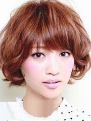 女学生适合的短卷发发型图片[5P]