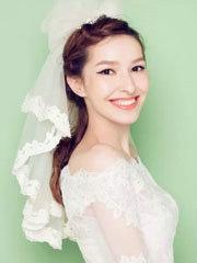 小清新新娘发型图片 头纱造型美美哒[30P]