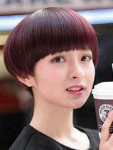 蘑菇头女生发型图片 超清纯可爱[5P]